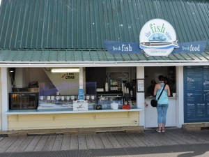 "The Fish Store - where we bought our dozen oysters for ""a buck a shuck"""