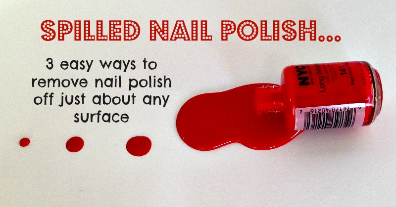Remove Nail Polish From Almost All Surfaces Using
