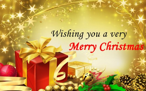 Medium Of Christmas And New Year Greetings
