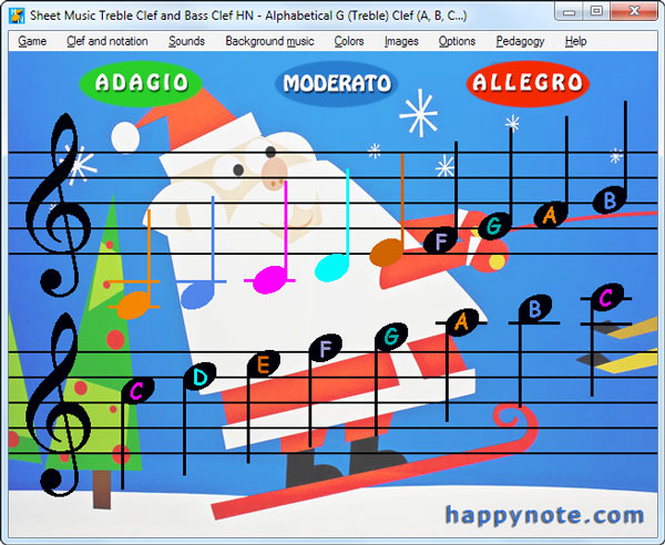 Treble Clef and Bass Clef the fun way! - Happy Music Note!