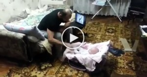 """Cat Protecting Her Human Baby From """"Abuser"""""""