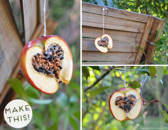 Apple-bird-feeders