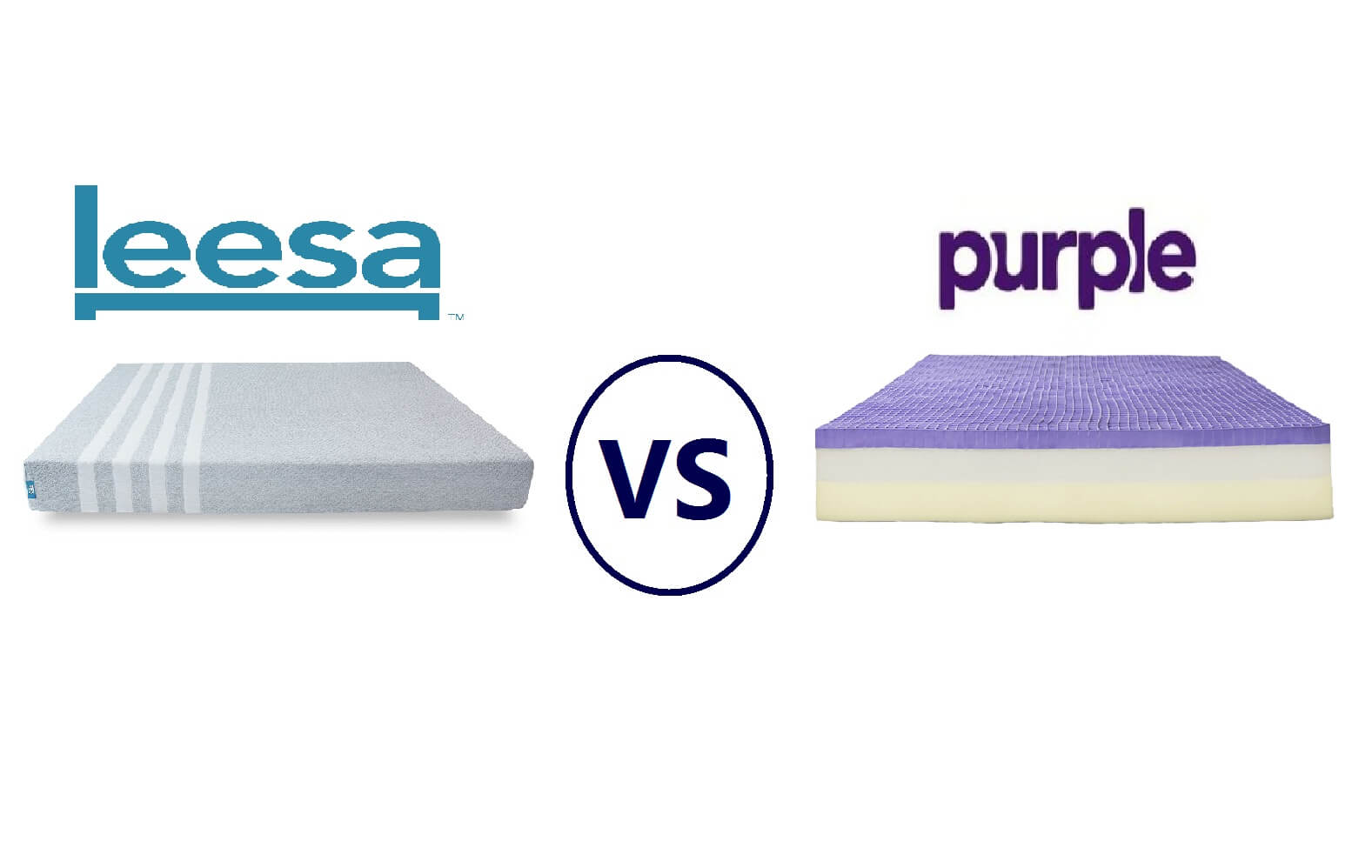 Purple Mattress Review Leesa Vs Purple Mattress Review Face To Face Comparison