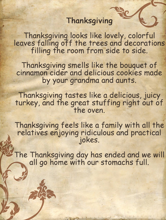 The Yellow Wallpaper Quotes And Analysis Thanksgiving Poems For Church Kids Preschoolers