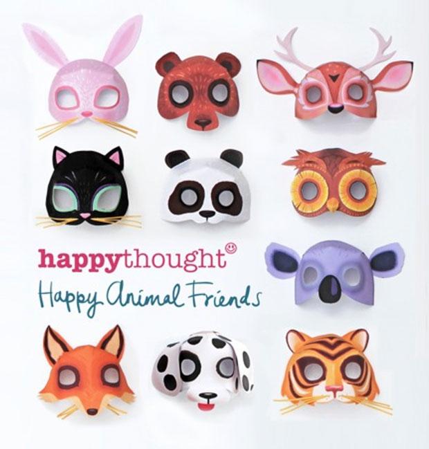 Printable animal masks Download easy to make mask templates now!