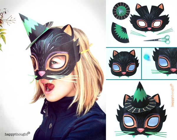 Printable Halloween masks Download easy to make mask templates now!