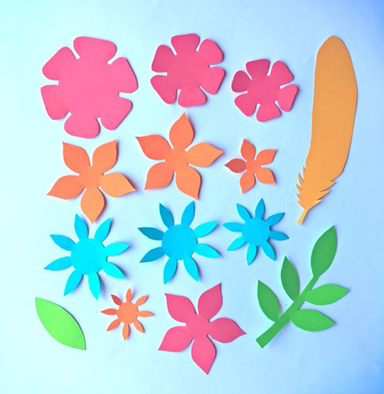 Paper flowers classroom craft activity Easy make paper flowers +