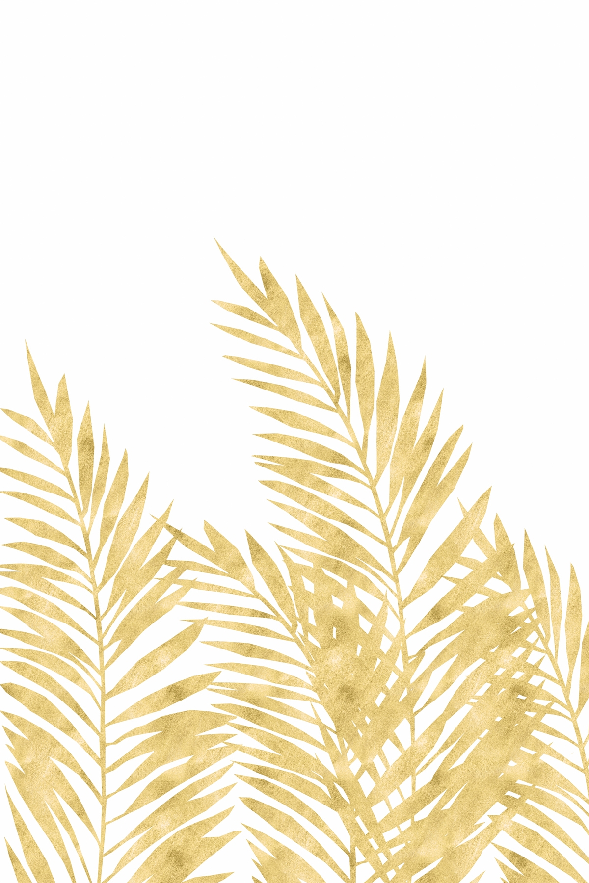 Free Menu Buy Palm Leaves Golden Wall Mural - Free Us Shipping At