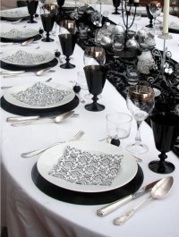 58 Elegant Black And White Wedding Table Settings ...