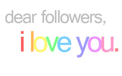 i love you followers