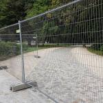 Eingang zum Treptower Park am 29.8.2016 - gesperrt