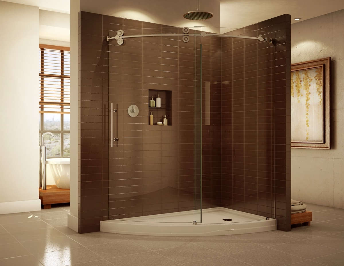 Glass Shower Curtains Shower Glass Harbor All Glass Mirror Inc