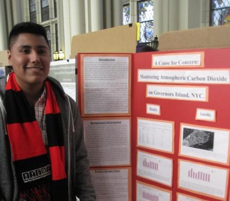Advanced marine science scholar Marc Jimenez, class of '16.