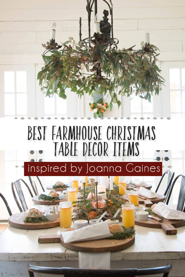 Best Christmas Farmhouse Table Decor Items Inspired By