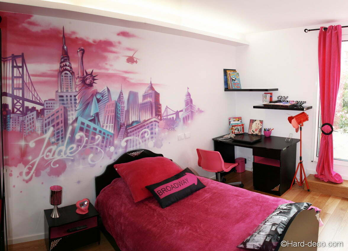Deco Chambre Ado Theme New York Chambre Rose New York Hard Deco