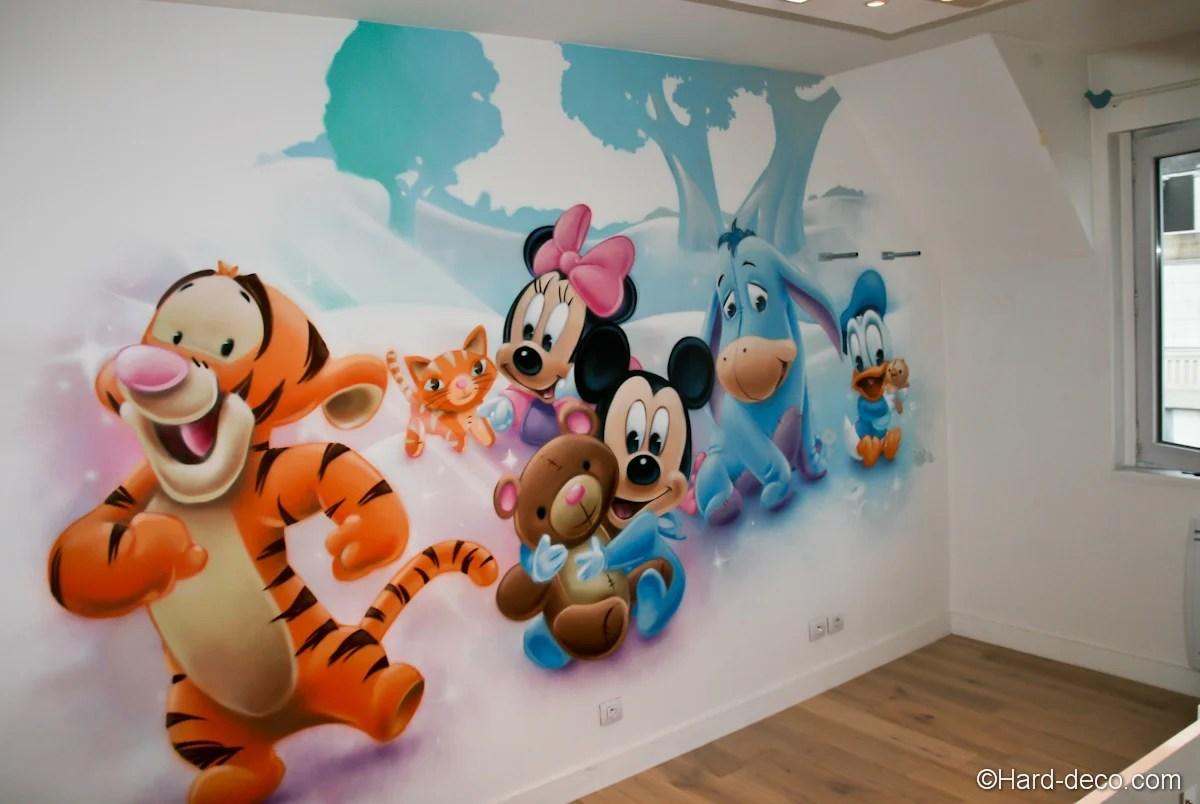 Deco Murale Chambre Bébé | Peinture Mur Chambre Bebe Oveetech