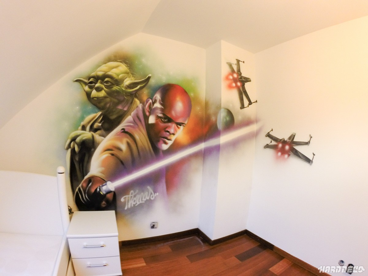 Idee Deco Chambre Star Wars Décor Star Wars Yoda And Windoo Hard Deco