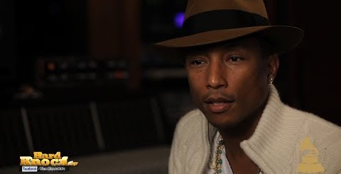 Pharrell talks Blurred Lines, Get Lucky, GRAMMYs, Shares Advice for Young Artists