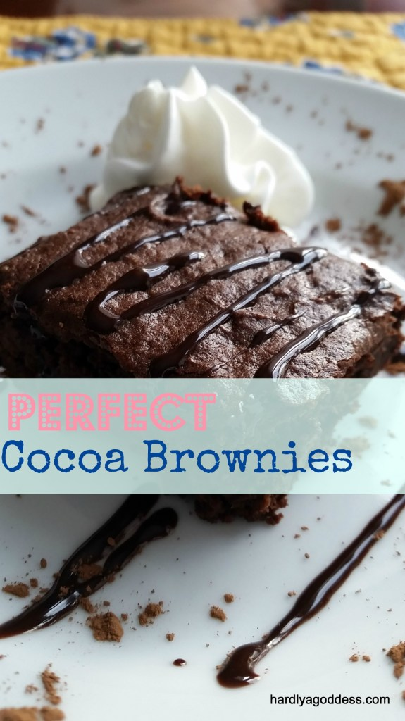 perfect cocoa brownies