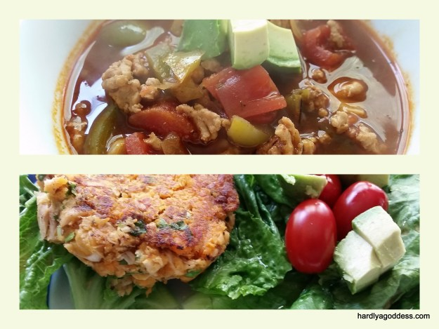 Chili and salmon cakes