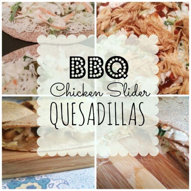 barbecue chicken quesadillas