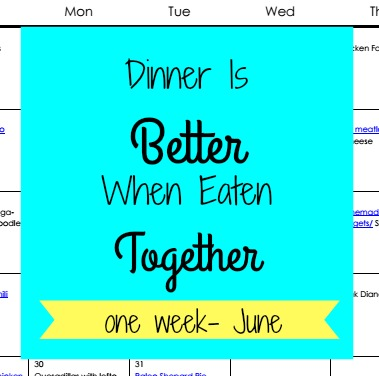 june meal plan | Hardly A Goddess