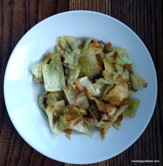 cabbage saute is easy and fast!