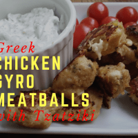 Greek Chicken Gyro Mini Meatballs with Tzatziki Sauce #SundaySupper