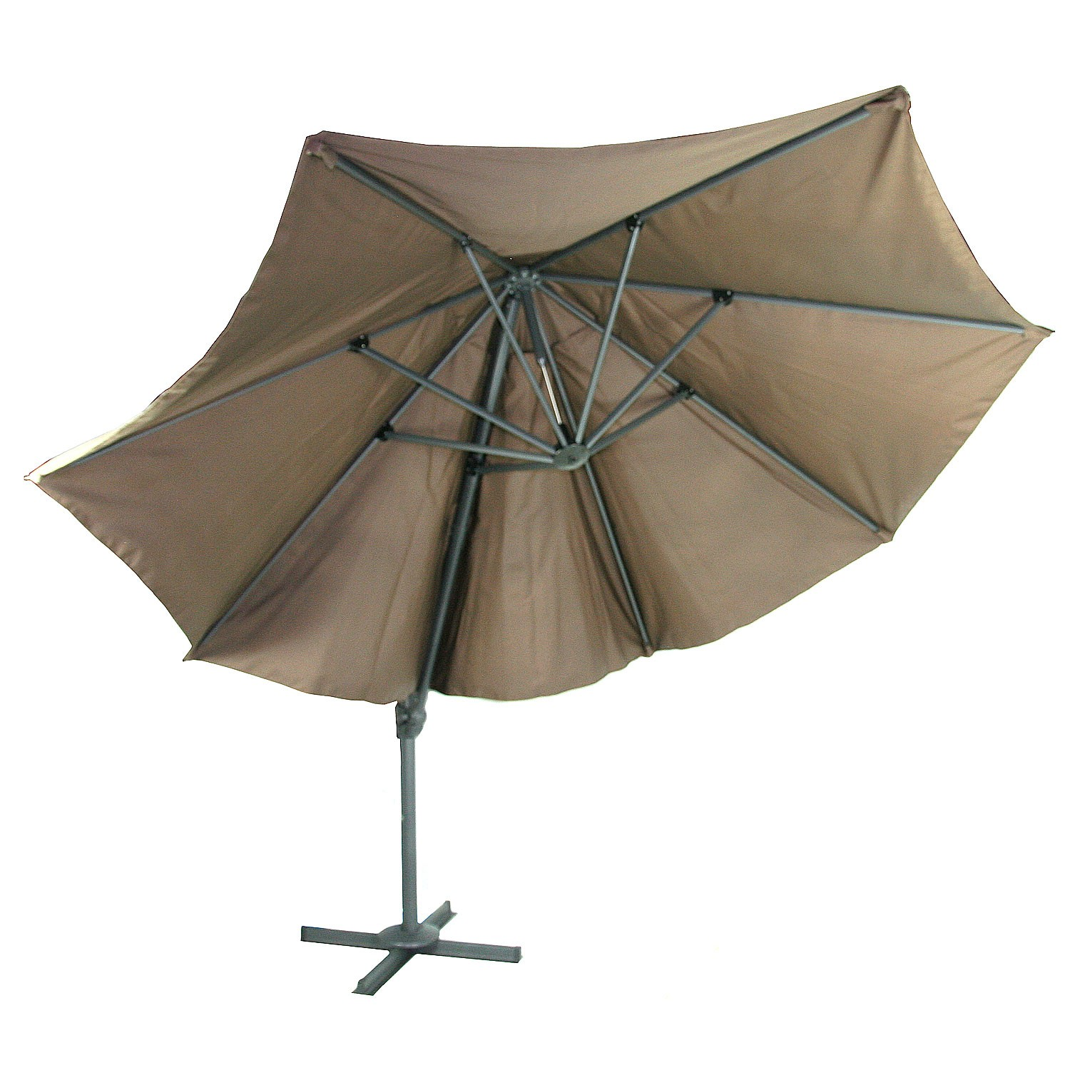 Parasol Taupe Details About River Cottage Gardens Outdoor 11 Foot Polyester Parasol Resort Umbrella Taupe