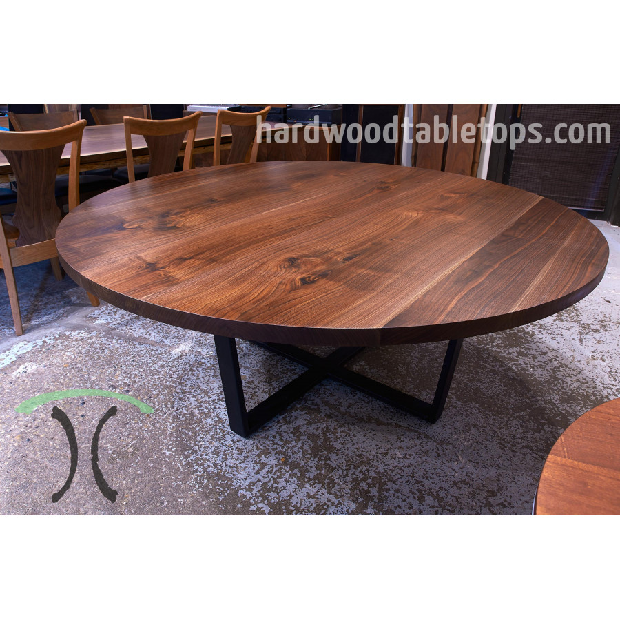 Round Table Tops Round Custom Made Hardwood Table Top Builder 1 75 Inches