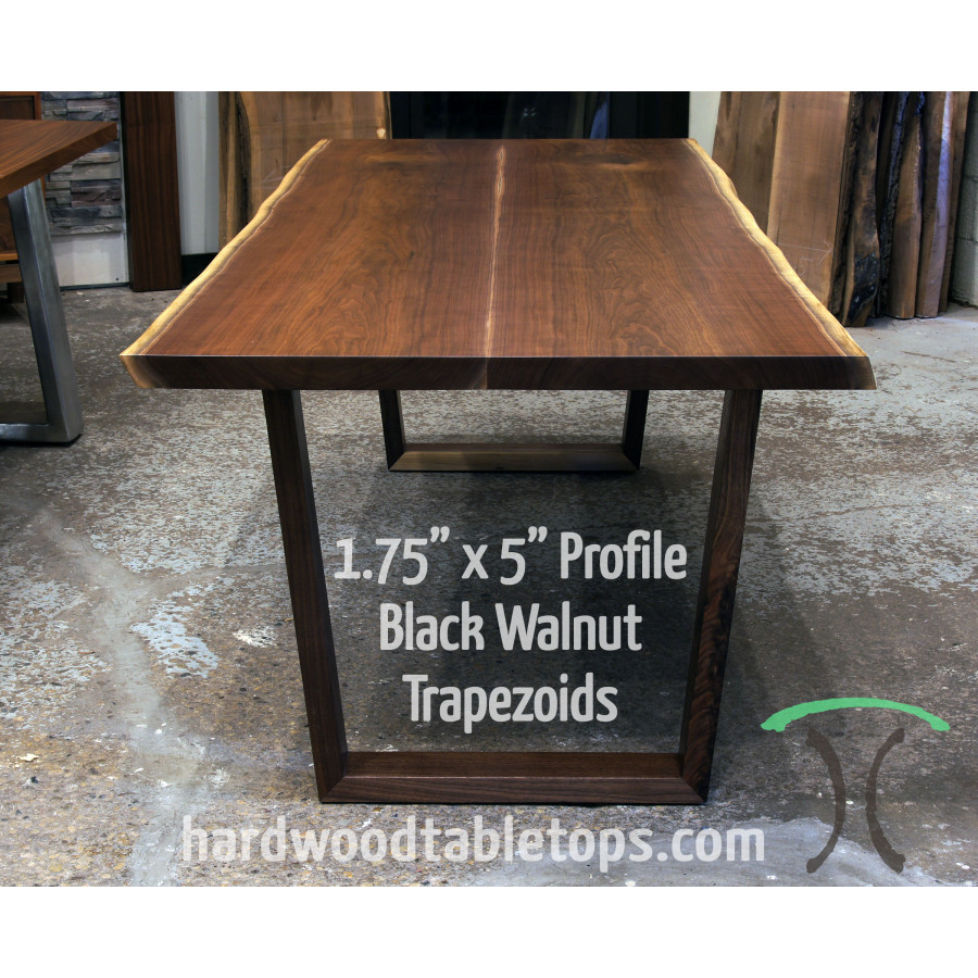 Timber Table Legs Custom Made Solid Hardwood Trapezoid Style Table Legs