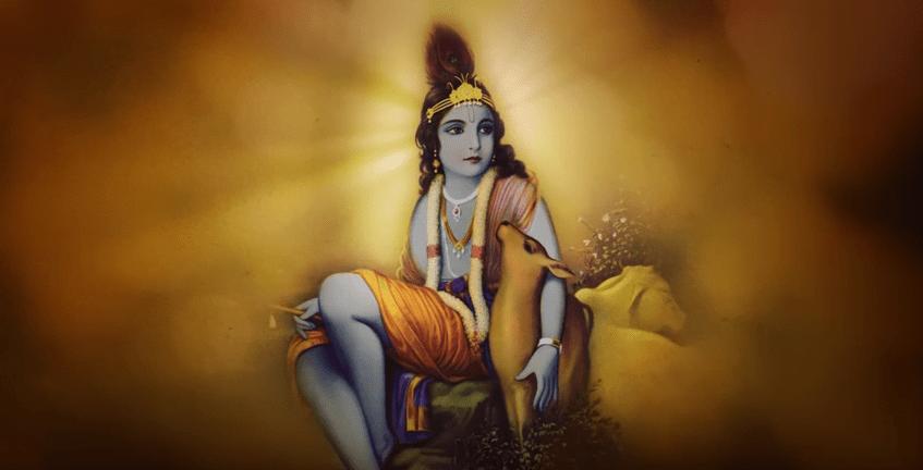 Tulsi Gabbards chosen painting of Lord Krishna