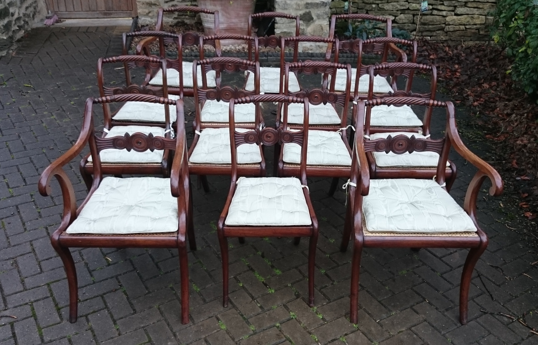 Dining Set 12 Chairs Antique Dining Chairs Sets Of 12 Hares Antiques