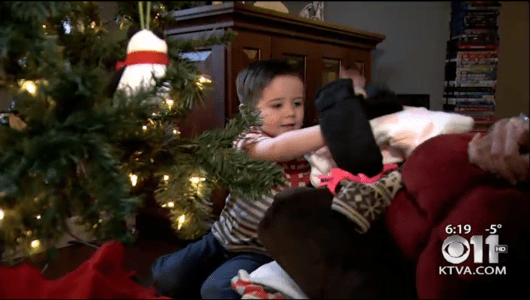 Toddler Has the Heart of a Giant