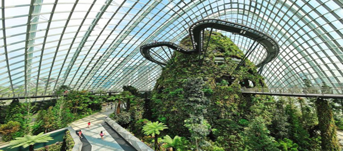 Ilustrasi: Fasilitas di Gardens by The Bay (credit: anthropocene723)