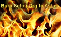 Burn scamster setuu org to ashes
