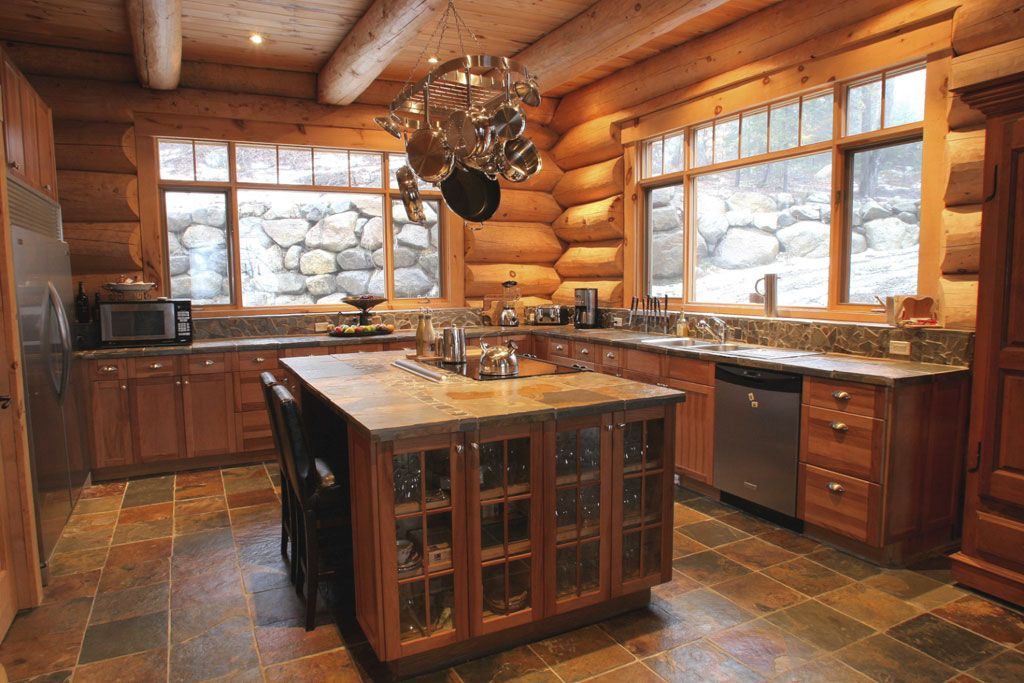 Meuble Style Campagne Chic Log Homes And Timber Frame Portfolio | Harkins.ca