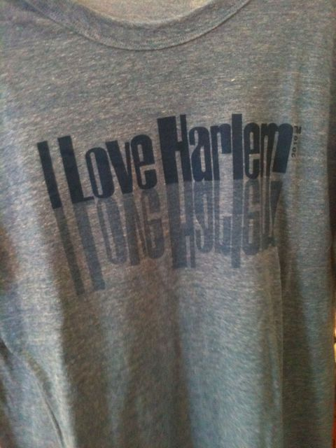Swing by in Harlem to get your I love Harlem t shirt
