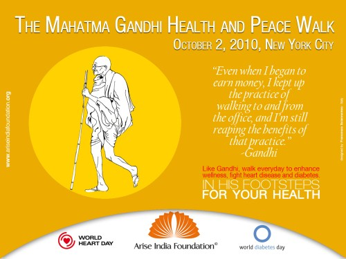 Register For The Mahatma Gandhi Health and Peace Walk in Marcus Garvey Park on Oct. 2 2010.