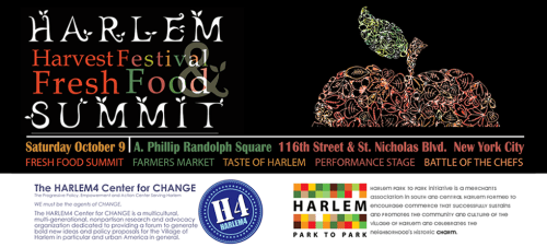 "harlem harvest banner 3 Harlem Harvest Festival ""FRESH FOOD SUMMIT"" This Saturday"