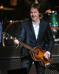 Paul McCartney performs at Harlems famous Apollo Theater to a celebrity packed crowd