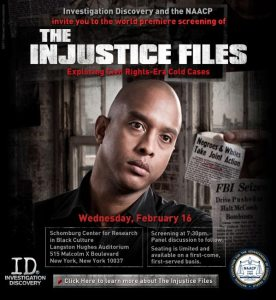 The Injustice Files screening at Harlem's Schomburg Center