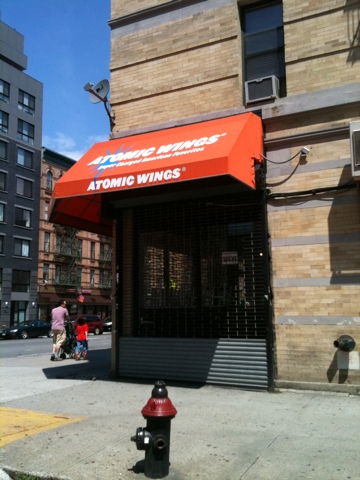 20110424 111212 Atomic Wings in Harlem to reopen?