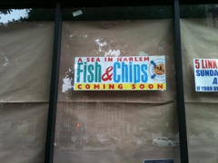 Coming soon, A Sea in Harlem on Saint Nicholas Avenue