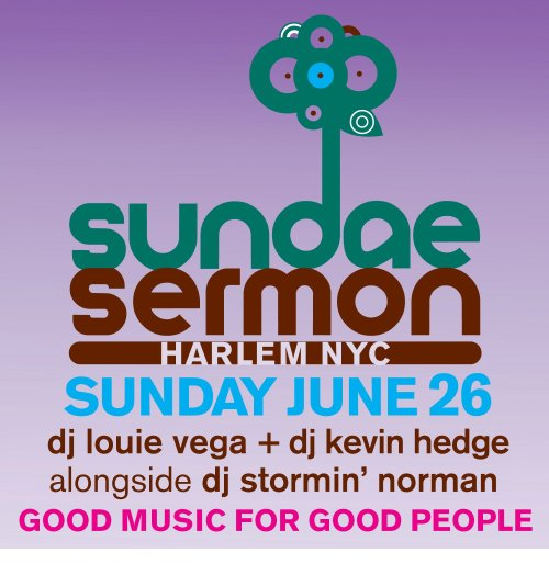 SUNDAE SERMON Harlem NYC Sunday June 26