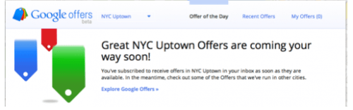 Announcing That Google Offers Beta Will Soon Deliver NYC Uptown Offerings