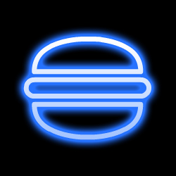 neon burger food icon black 250 CEDRIC   Update!  Good Things Come To Those Who Wait.