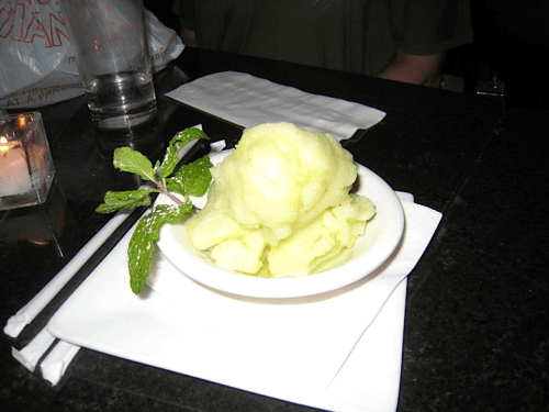 melba green apple sorbet Melbas   Still the Queen
