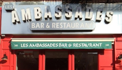 Les Ambassades Bar and Restaurant   Open and Ready to Celebrate!
