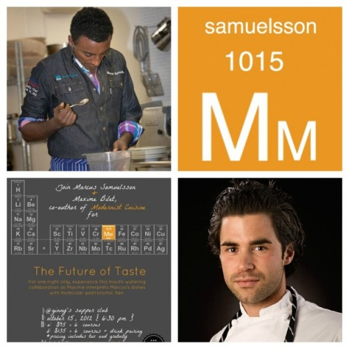 Marcus Samuelsson Hosts Maxime Bilet, Co Auther Of Modernist Cuisine